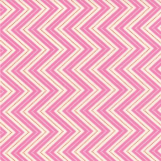 Moda Wrens and Friends - 2988 - Chevron Pink and White - 10005-16 Cotton Fabric
